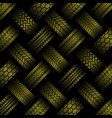 cars yellow tire tracks background vector image vector image