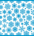 christmas background with blue snowflakes vector image vector image