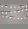christmas lights lamp vector image vector image