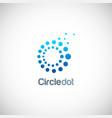 circle dot technology logo vector image vector image