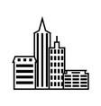city buildings icon on white background vector image vector image