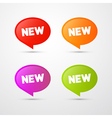 Colorful New Labels Tags Set vector image