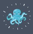 cute octopus on dark vector image