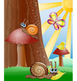 Cute picture with snails vector image vector image