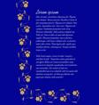 dark blue background with elegant gold vintage vector image vector image