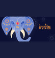 decorated indian elephant festival background vector image