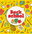 education colorful background vector image