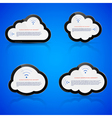 Electronic clouds vector image