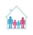 family in home symbol kind in house sign icon vector image vector image