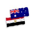 flags australia and egypt on a white background