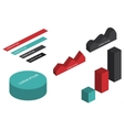 Flat 3d isometric infographic vector image vector image