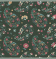 floral seamless pattern with blooming flowers vector image vector image