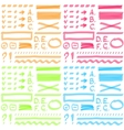 Four color set Hand drawing elements for select vector image vector image