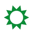 green sun isolated icon design vector image