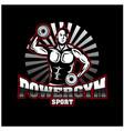 gym health strong man logo designs vector image