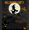 halloween night background with creepy house vector image
