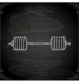 Hand Drawn Barbell vector image