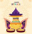 happy diwali festival hinduism lights celebration vector image vector image