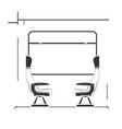 high speed train interior vector image vector image