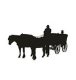 horse-drawn carriage vector image