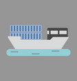 icon in flat design ship with containers vector image vector image