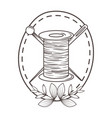 isolated tailor shop thread and needle design vector image vector image