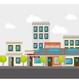 isometric city design vector image vector image