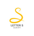 letter s graphic design template vector image