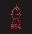 logo bbq grill on black background graphic vector image vector image