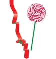 Lollipop and ribbon vector image