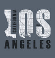 los angeles t-shirt and apparel design vector image