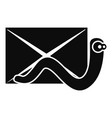 mail virus worm icon simple style vector image