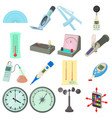 measure tools icons set cartoon style vector image vector image