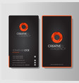 modern creative agency business card vector image vector image