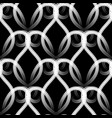modern elegance black and white vintage seamless vector image vector image
