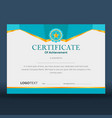 modern geometric blue certificate vector image