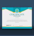 modern geometric blue certificate vector image