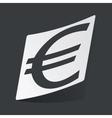 Monochrome euro sticker vector image vector image