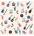 Music elements seamless pattern vector image