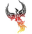 Mythical phoenix bird