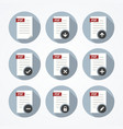 Pdf documents icons set vector image vector image