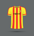 red and yellow stripped t-shirt vector image vector image