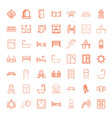 room icons vector image vector image
