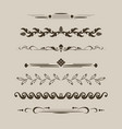 set decorative delimiters vector image vector image