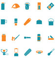 set icons for travel and outdoors vector image vector image