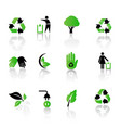 set of environmental recycling icons vector image vector image