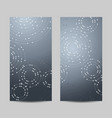 set of vertical banners geometric pattern with vector image vector image