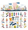 skateboarders on skateboard characters vector image vector image