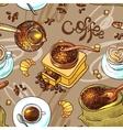sketch coffee vector image