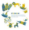 Stockholm Design Elements vector image vector image